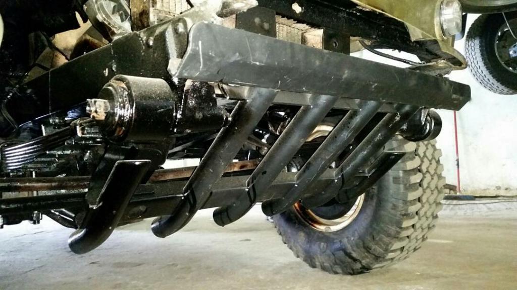 Блог  Nasha4x4: Зщиту Rival она же Автоброня от пружинного Хантера на рессорный Уаз 469